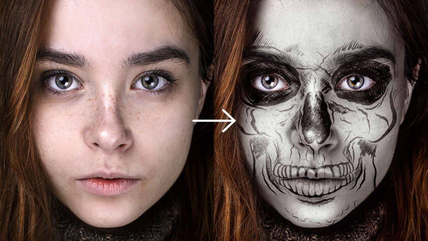 Halloween Make Up / Maske Tutorial - Schnell & Einfach